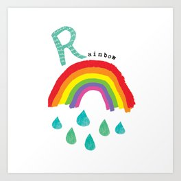 R is for Rainbow Art Print