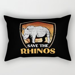Rhinoceros Animal Rights Activists Rectangular Pillow
