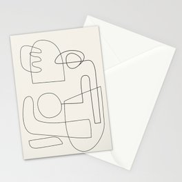 Minimal Abstract Shapes 02 Stationery Cards