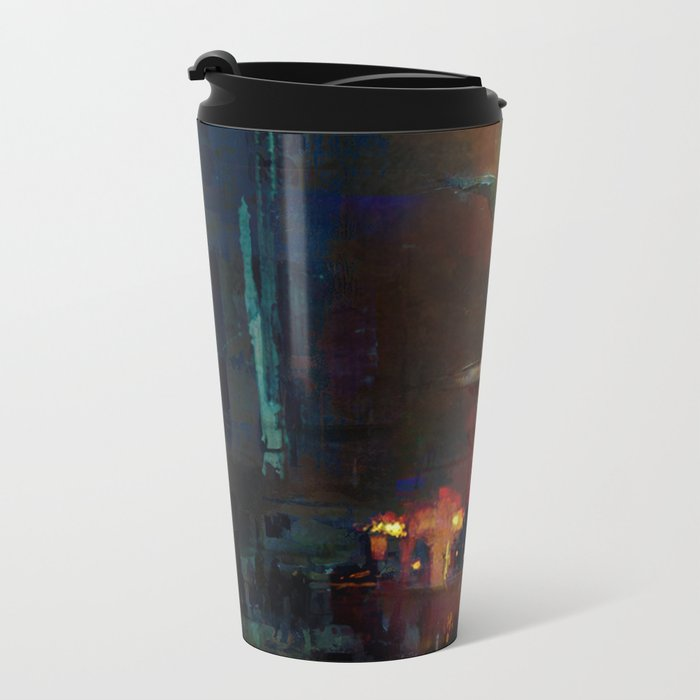 Bethesda Fountain Metal Travel Mug