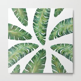 Tropical Banana Leaves #society6 #buyart Metal Print