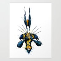 x men Art Prints featuring X-Men by Nicola Girello