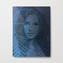 Cyber Snow Queen 1 Metal Print