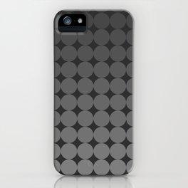 Blackk Circles iPhone Case