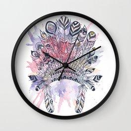 Native American headdress Wall Clock