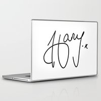 harry styles Laptop & iPad Skins featuring Harry Styles - One Direction by Moments Design
