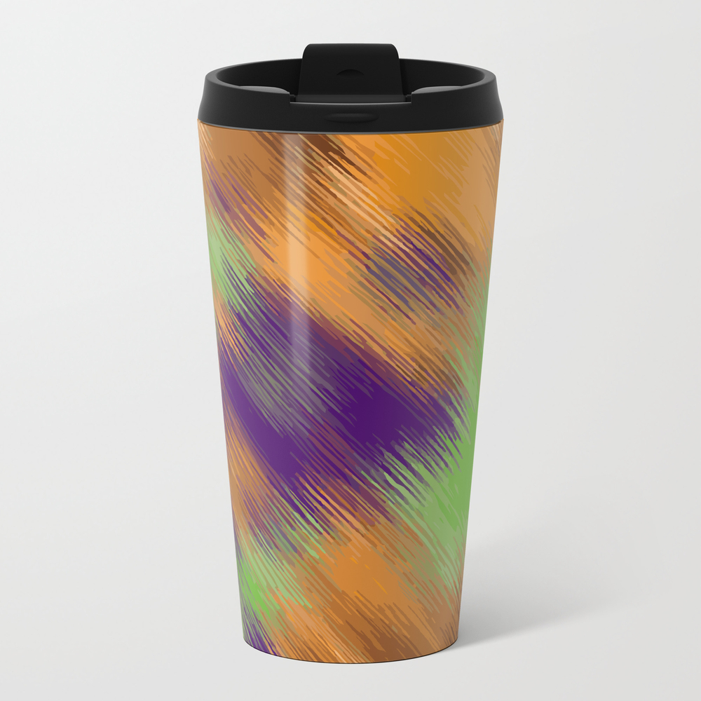Brown Green And Purple Painting Texture Abstract B… Travel Cup TRM8020029