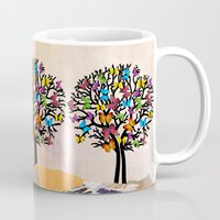 butterfly Mugs featuring Butterfly by mark ashkenazi