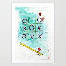 Tic Tac Toc Win Win! Art Print