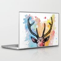 stag Laptop & iPad Skins featuring Stag by Sara Soto