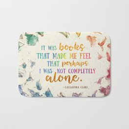 It was books Bath Mat