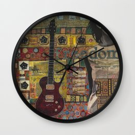 Freedom Girl  with Guitar Wall Clock