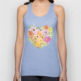 Floral Heart 1 Unisex Tank Top