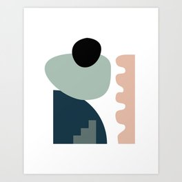Shape study #18 - Stackable Collection Art Print