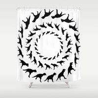 dinosaurs Shower Curtains featuring Dinosaurs by Trokola