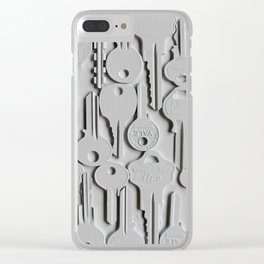 White keys Clear iPhone Case