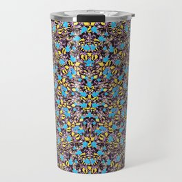 Exotic Stylized Nature Pattern Travel Mug
