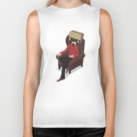 radiohead Biker Tanks featuring Radiohead by Anthony Massingham