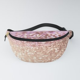 Mermaid Rose Gold Blush Glitter Fanny Pack