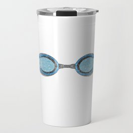 "A Great Swimming Tee For Swimmers Saying ""Oxygen Is Overrated"" T-shirt Design Goggles Travel Mug"