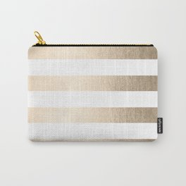 Simply Stripes in White Gold Sands Carry-All Pouch