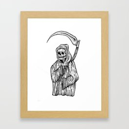 death is here Framed Art Print
