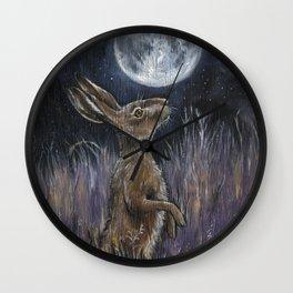 Supermoon Hare Wall Clock