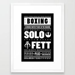 Solo vs Fett Framed Art Print