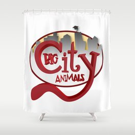Big City Animals Shower Curtain