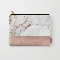 Rose gold marble and foil Carry-All Pouch
