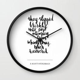they slipped Wall Clock