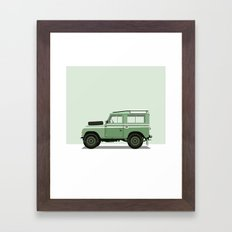 Car illustration - land rover Framed Art Print