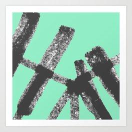 Bent Rails Art Print