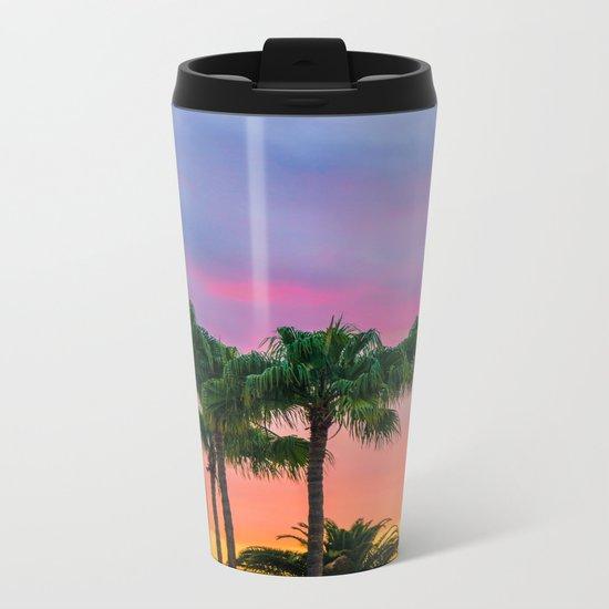 Sunset tropical vibes Metal Travel Mug