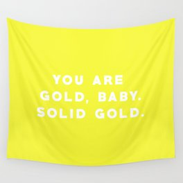 SOLID GOLD Wall Tapestry