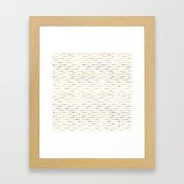 White & Gold Arrow Pattern Framed Art Print
