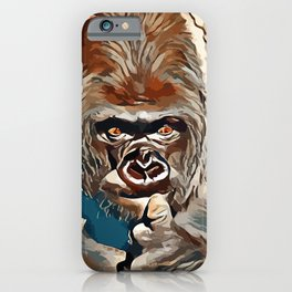 Thinking Gorilla iPhone Case