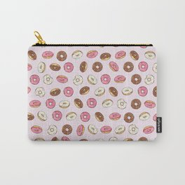 ALL the donuts! Rainbow on Pink Carry-All Pouch