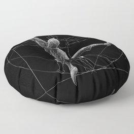 Vitruvian Man Climbing Artwork Climber Boulderer Floor Pillow