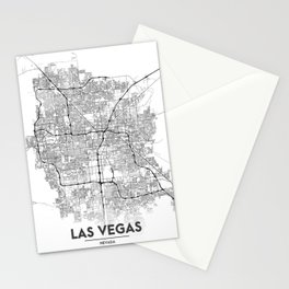 Minimal City Maps - Map Of Las Vegas, Nevada, United States Stationery Cards