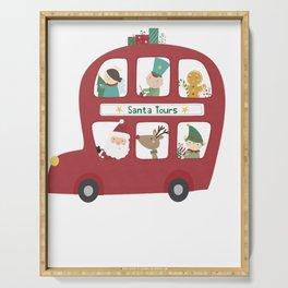 Santa Tours Double Decker Bus Serving Tray
