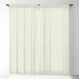 Earthy Green on Cream Parable to 2020 Color of the Year Back to Nature Angled Grid Pattern Blackout Curtain