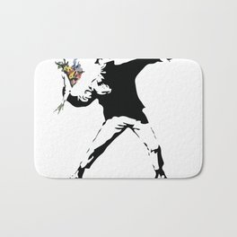 Banksy Flower Thrower Bath Mat