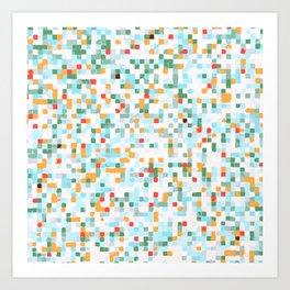 handmade coloured squares Art Print