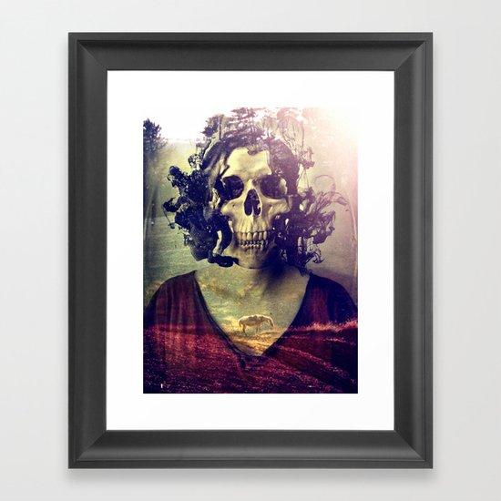 Miss Skull Framed Art Print