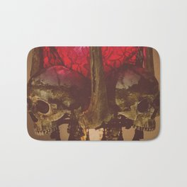 Catacomb Culture - Human Skull Horror Bone Lamp Bath Mat