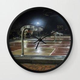 night basketball court Wall Clock