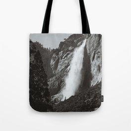 Yosemite Upper Falls - 2 (B&W) Tote Bag
