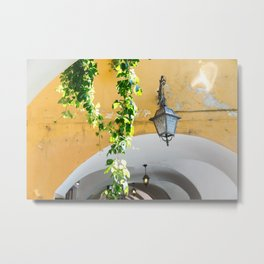Archway with Lantern and Vine, Bellagio Metal Print