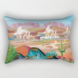 Power Generating Station in Desert Rectangular Pillow